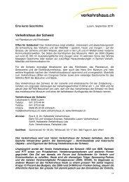 kurze Geschichte - Verkehrshaus der Schweiz