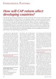 How will CAP reform affect developing countries? - Rural 21