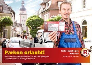 Informationen zum Handwerkerparkausweis - TechnologieRegion ...