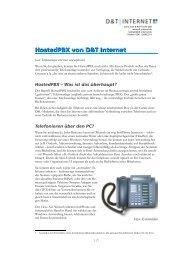 HostedPBX von D&T Internet