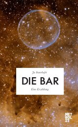 Leseprobe: Die Bar - Metrolit