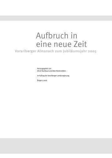 Herbert Sausgruber, Aufbruch in eine neue Zeit (PDF) - Vorarlberg