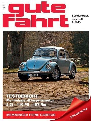 GUTE FAHRT 02/2013 - Testbericht Einspritzmotor 2.3i