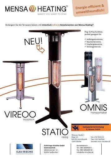 STATIO Bar- & Stehtisch von Mensa Heating - Industrievertretung R ...