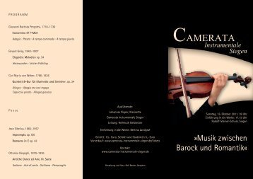 Folder Camerata Instrumentale.indd - Camerata Instrumentale Siegen