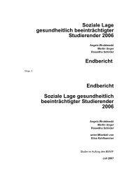 barrierefreie Version - Studierenden-Sozialerhebung