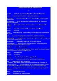 Biologische Fachbegriffe und Erklärungen - Hobbyzucht