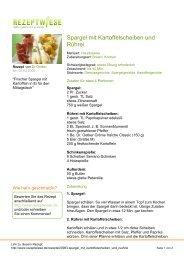 Spargel mit Kartoffelscheiben und Rührei - Rezeptwiese