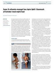 Svær D-vitamin-mangel hos børn født i Danmark af kvinder med ...