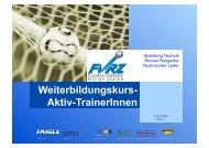 Aktiv-TrainerInnen - Fussballverband Region Zürich