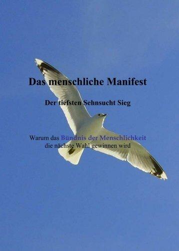 Das menschliche Manifest - holger-niederhausen