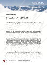 Klimabulletin Winter 2012/13 Winter 2012/13 - MeteoSchweiz - CH