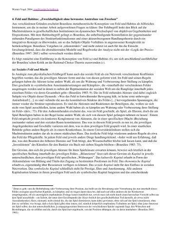 """4. Feld und Habitus: """"Zweckhaftigkeit ohne ... - Matthias Haun"""
