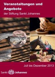 (Halbjahreskalender Brosch\374re 2_2013) - Stiftung Sankt Johannes