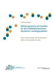 Wahlprogramme als Quellen für die Politikfeldinteressen deutscher ...