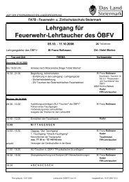 Download: Stundenplan des Seminars - Freiwillige Feuerwehr Traun