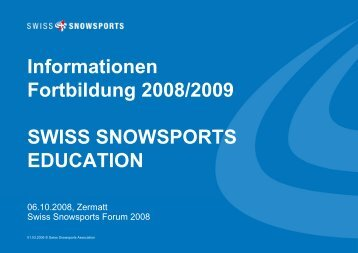 News Education - Swiss Snowsports