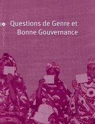 Questions de Genre et Bonne Gouvernance - cedpa