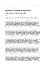3. Geschichte der Psychosomatik I - Wordpress Wordpress