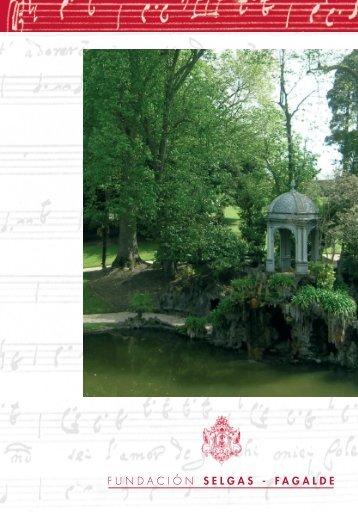Programa Musical del concierto - Fundación Selgas-Fagalde