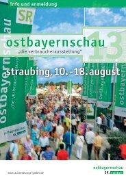 Anmeldung Ostbayernschau - Straubinger Ausstellungs- und ...