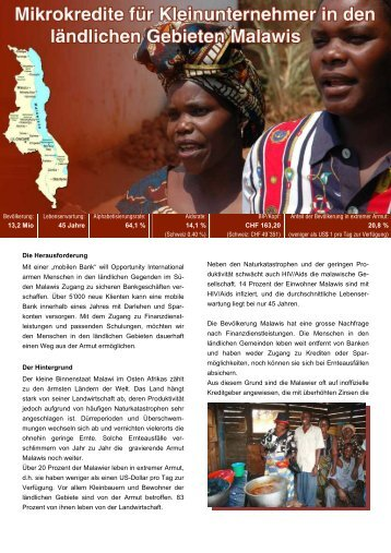 Projektbericht CH Malawi - Opportunity International Deutschland