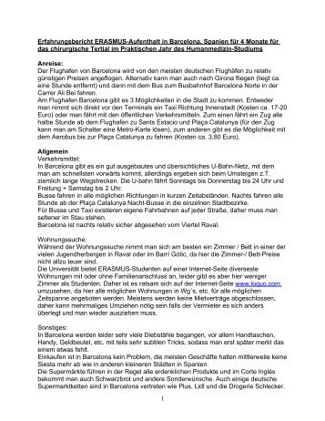 Erfahrungsbericht ERASMUS-Aufenthalt in Barcelona, Spanien für