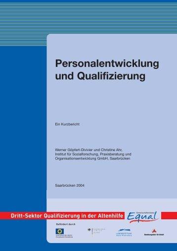 G 4 Personalentwicklung und Qualifizierung - Equal Altenhilfe