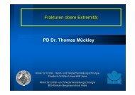 Frakturen obere Extremität PD Dr. Thomas Mückley - Klinik für Unfall ...