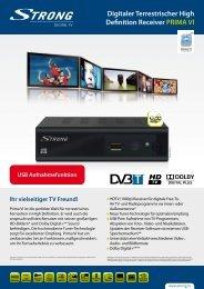 Digitaler Terrestrischer High Definition Receiver PRIMA VI USB ...