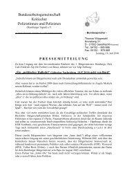 Pressemitteilung vom 18. Juli 2010 - Kritische Polizisten
