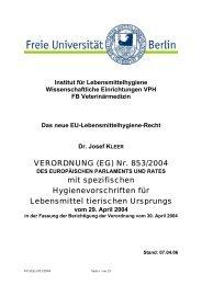 VERORDNUNG (EG) Nr. 853/2004 mit spezifischen ...