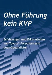 Ohne Führung kein KVP - Production Systems
