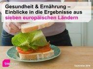 Gesundheit & Ernährung – Einblicke in die Ergebnisse aus sieben ...