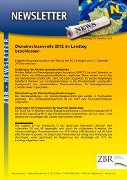 Dienstrechtsnovelle 2012 im Landtag beschlossen