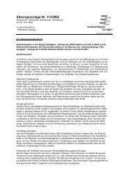 Sitzungsvorlage Nr. 113/2002 - Verband Region Stuttgart