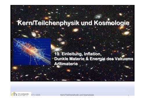 Kern/Teilchenphysik und Kosmologie - CERN