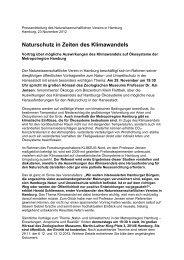 Naturschutz in Zeiten des Klimawandels - NWV Hamburg