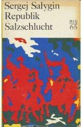 Sergej Salygin Republik Salzschlucht - BUCH-LISTE