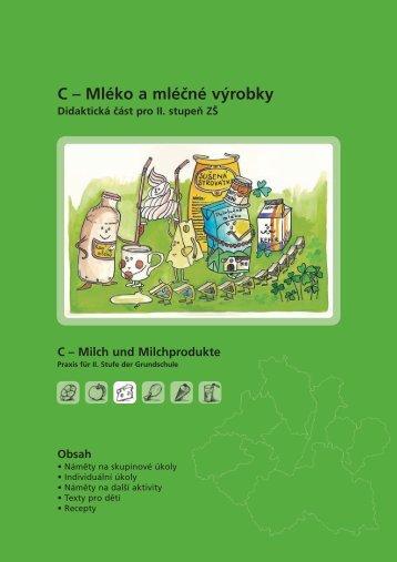 C – Mléko a mléčné výrobky