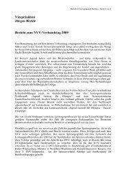 Vizepräsident Jürgen Berkle Bericht zum NVV-Verbandstag 2009