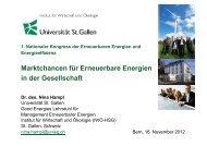 Marktchancen für erneuerbare Energien in Gesellschaften