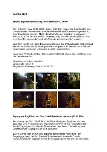 Berichte 2008 - THW Germersheim