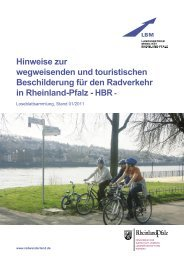 Wegweisende Beschilderung für den Radverkehr - Landesbetrieb ...