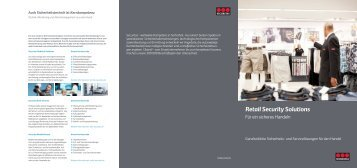 Broschüre - Retail Security Solutions - Securitas