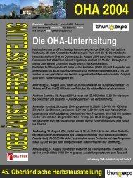 Kein Folientitel - OHA 2004 - OHA Thun