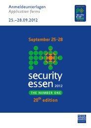Anmeldeunterlagen 2012 - Security