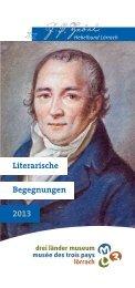 2013 Begegnungen Literarische - beim Hebelbund Lörrach