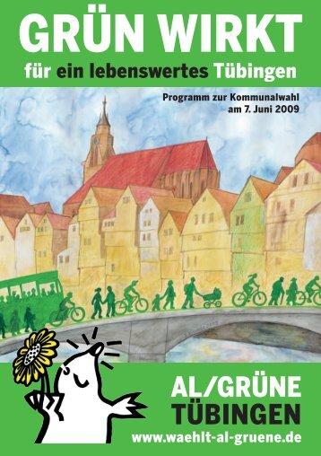 ausführliches Wahlprogramm - bei AL / Grüne in Tübingen