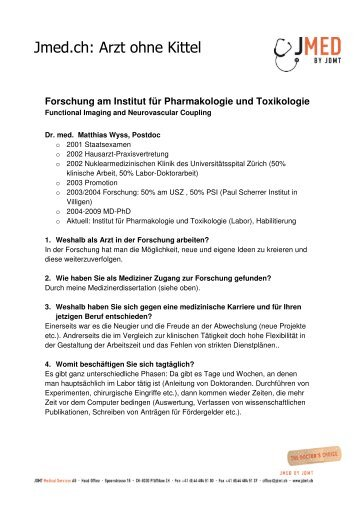 Institut für Pharmakologie und Toxikologie - Jmed